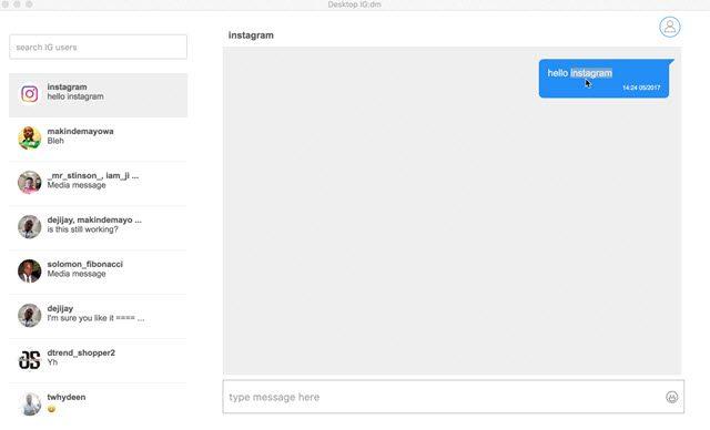 Instagram ya permite enviar Mensajes Directos vía web