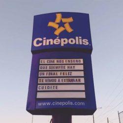 Cinépolis deja conmovedor mensaje a clientes