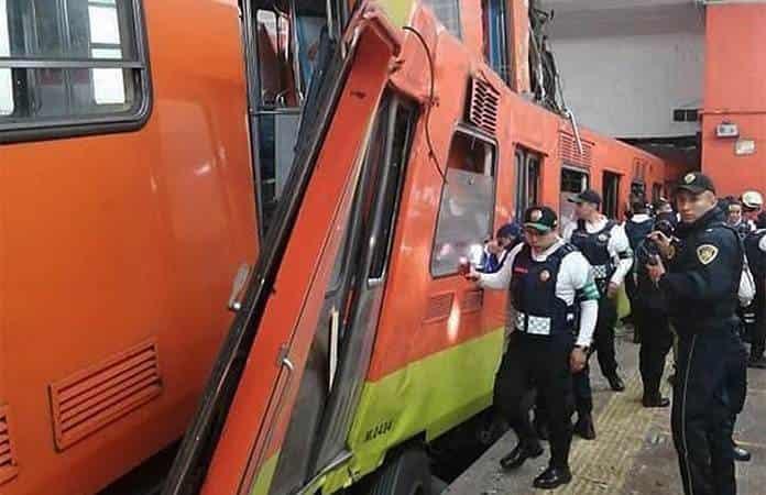 5 personas hospitalizadas tras choque en Metro