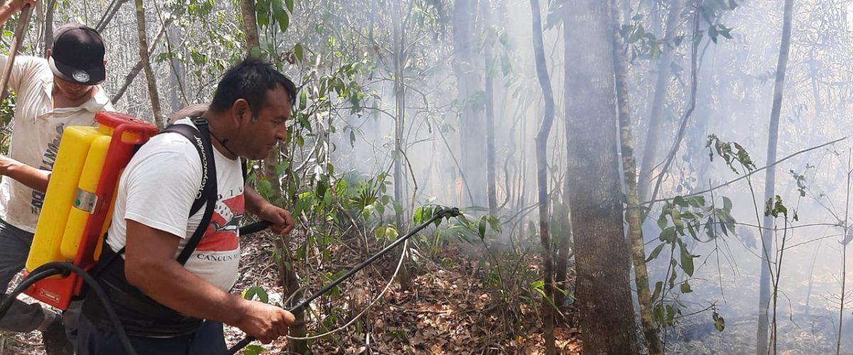 """Incendio en periferia de Cancún """"ahúma"""" a colonias del destino"""
