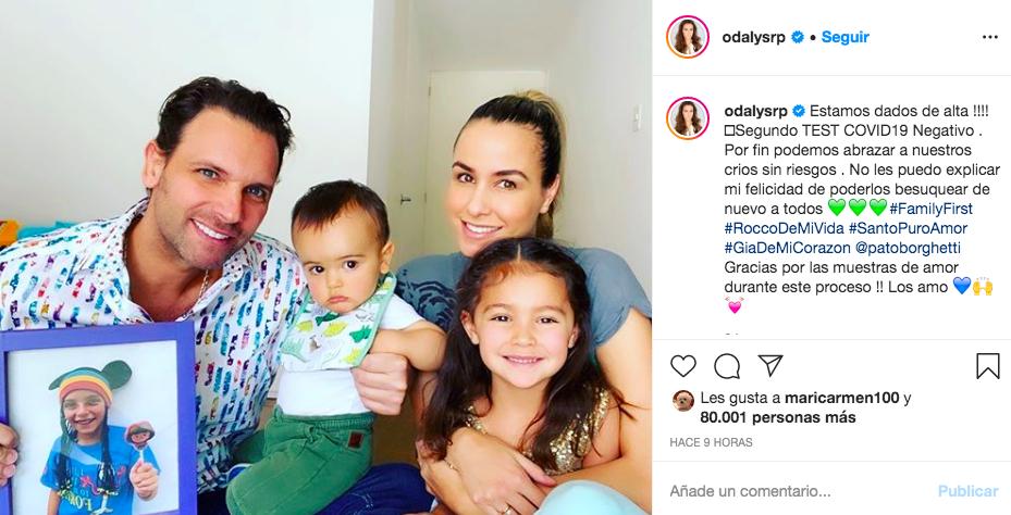 Dan de alta a Odalys Ramírez y Pato Borghetti tras Covid-19