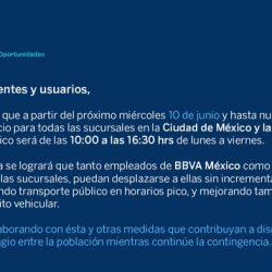 Sucursales bancarias cambian horarios en el Valle de México