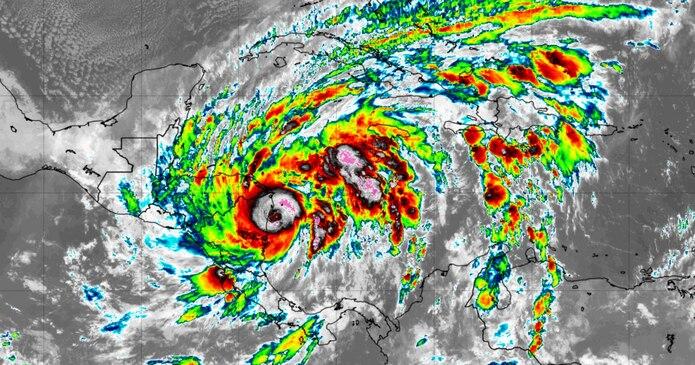 Eta se aproxima a Nicaragua como huracán de categoría 4