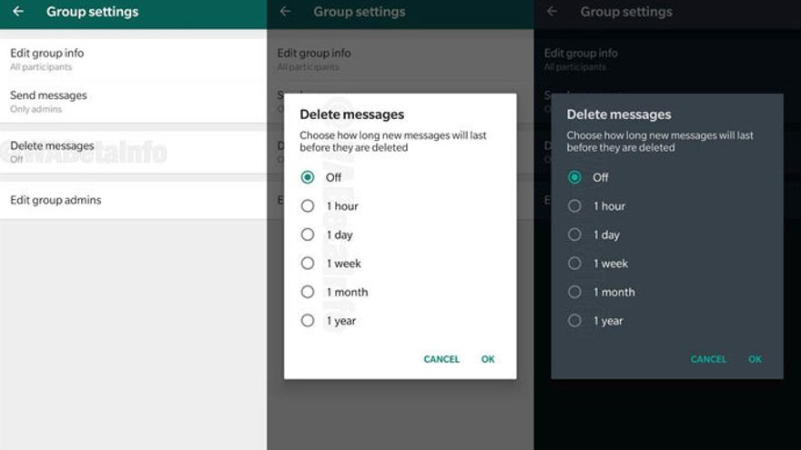 Activarán opción de WhatsApp que autodestruye mensajes